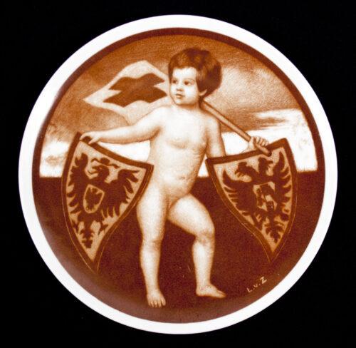 (WWI Plate) Preuss. Landesverein vom Roten Kreuz-Vaterländischer Frauenverein 1915