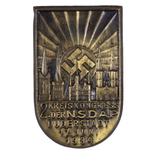 2. Kreiskongress der NSDAP Duderstadt 17. Juni 1934 abzeichen