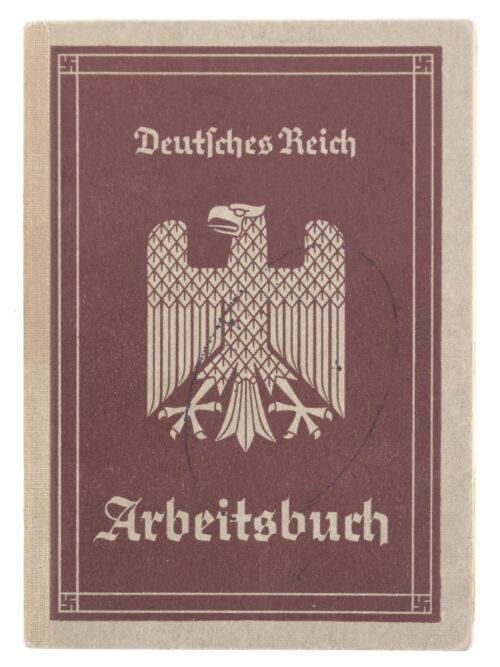 Arbeitsbuch first type from Arbeitsamt Glatz (VERY FULL!)