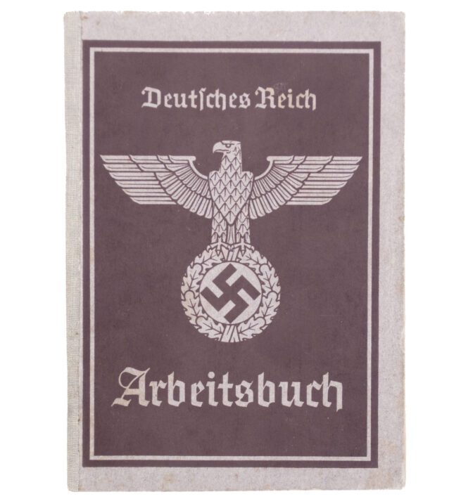 Arbeitsbuch second Type from Arbeitsamt Mährisch Schönberg (Czech!)