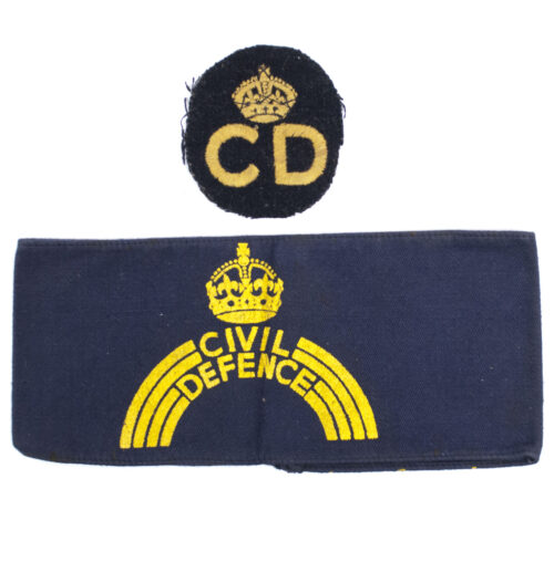 "Armband Binnenlandse Strijdkrachten - First Model ""CD"" Civil Defense + patch!"