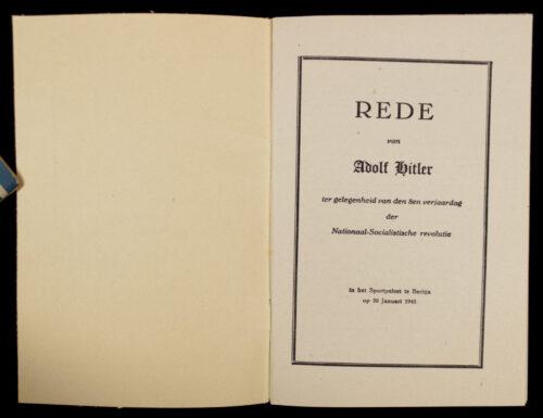 (Brochure) Rede van Adolf Hitler ter gelegenheid van den 8en verjaardag der nationaal socialistische revolutie