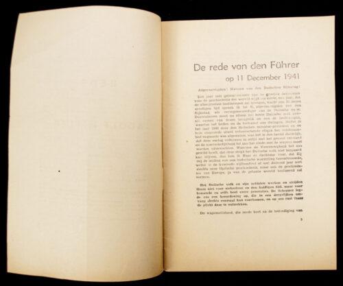 (Brochure) Rede van den Führer en Rijkskanselier Adolf Hitler (1941)