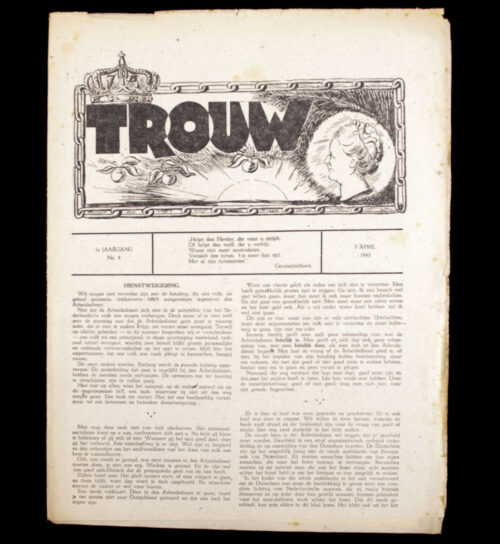 (Dutch resistence newspaper) Trouw 1e. Jaargang No.4 - 8 April 1943