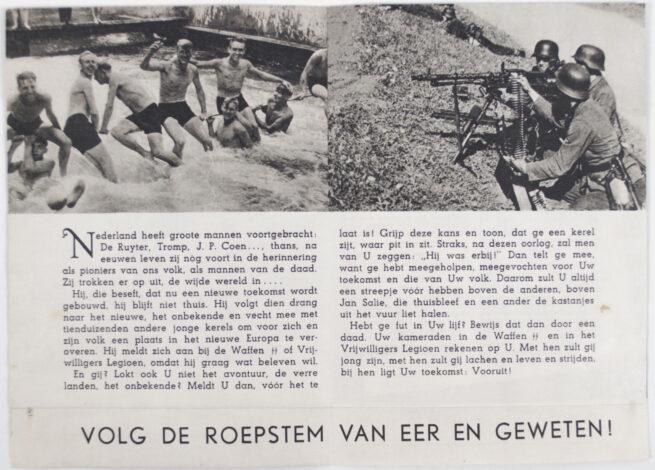 (DutchGermanic SS) Flinke Kerels voor... propaganda flyer (1942)