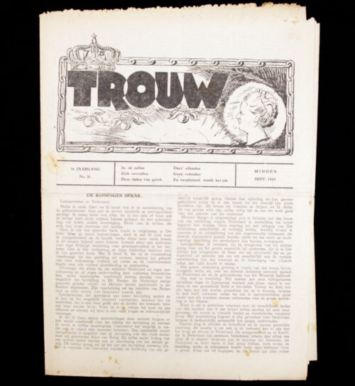 (Illegalresistence newspaper) Trouw 1e. Jaargang No.11 - September 1943