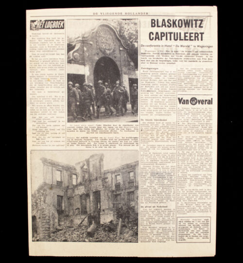 (Illegalresistence newspaper) Vliegende Hollander No.138 Maandag 7 Mei 1945