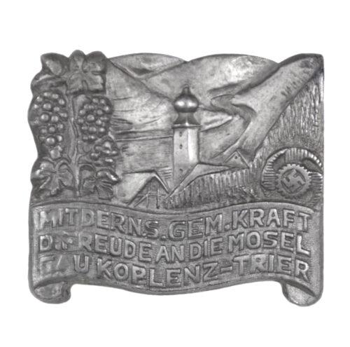 Kraft durch Freude (KDF) Mit der N.S. Gem. Kraft D. Freude and die Mosel Gau Koblenz Trier abzeichen