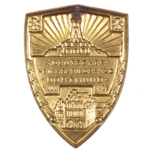 )Kyffhäuserbund) 4. Reichskriegertag Dortmund 23 Juli 1932 abzeichen