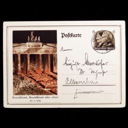 (Postcard) Deutschland, Deutschland über alles! 30.1.1933
