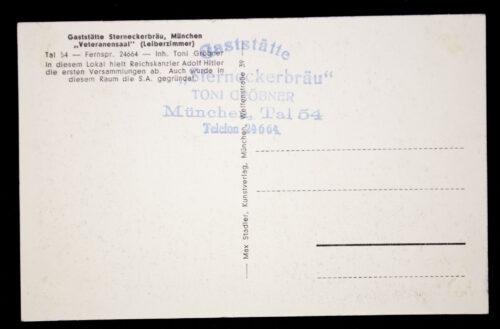(Postcard) Gaststätte Sterneckerbräu München Veteranensaal