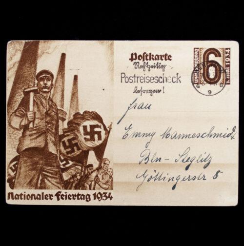 (Postcard) Nationaler Feiertag 1934