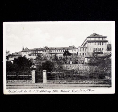(Postcard) Reichsarbeitsdienst (RAD) - Unterkunft der R.A.D Abteilung 5253 Gernot OppenheimRhein