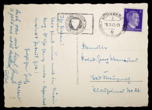 (Postcard) Reichsparteitag Nürnberg Reichsjugendherberge Lüginblau