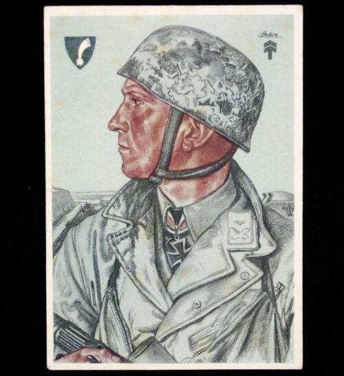 (Postcard) W. Willrich Hauptmann Delica