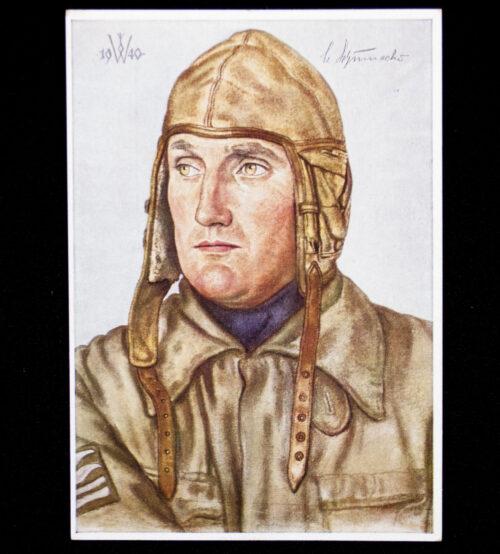 (Postcard) W. Willrich Oberstleutnant Schumacher - Kommodore eines Jagdgeschwaders