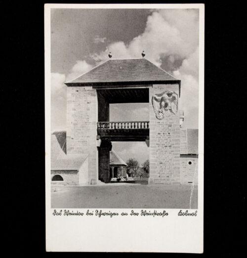 (Postcard) Weintor Schweigen an der Deutsch Franz Grenze. Erbaut 19361937