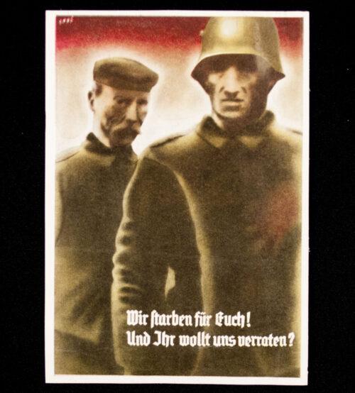(Postcard) Wir starben für Euch! Und Ihr wollt uns verraten (Saar 1935)