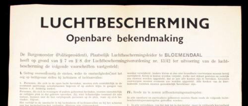 (Poster) Luchtbeschermingsdienst BloemendaalOverveen (54x40 cm) 1944