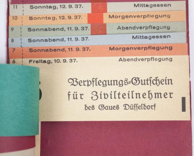 Reichsparteitag 1937 Ausweis Zivilteilnehmer Ticketbook with 17 tickets (rare!)
