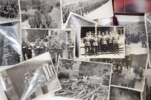 Stahlhelmbund photoalbum with 91 photo's and 53 loose photo's in box