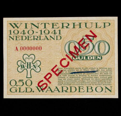 Winterhulp Nederland 1940-1941 (WHN) 0,50 GLD. Waardebon (Specimen)