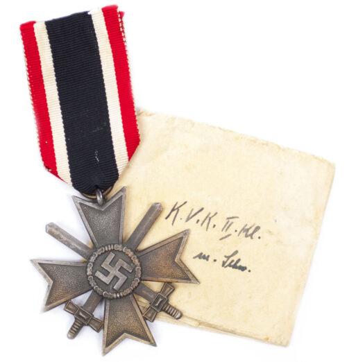 Kriegverdienstkreuz mit Schwerter War Merit cross with swords