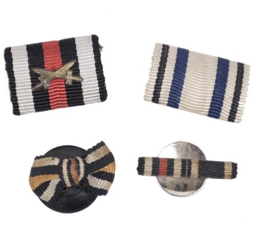 Lot of 4 World War I German ribbons Feldspangen (i.e.Bavaria)
