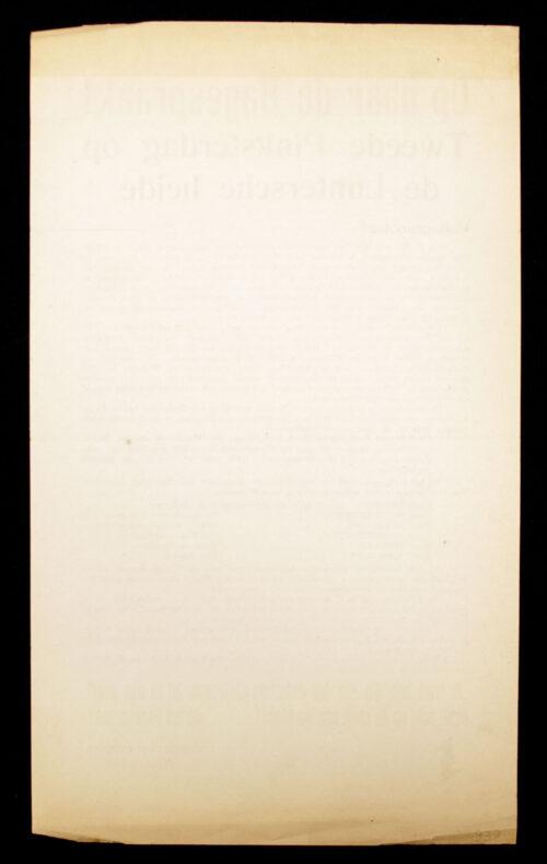 (NSB) Hagespraak document Op naar de Hagespraak (1937)