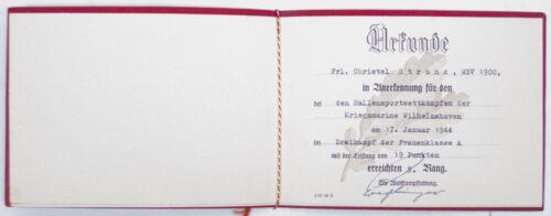 NSDAP Hitlerjugend (HJ) NSRL - citation booklet (19431944)