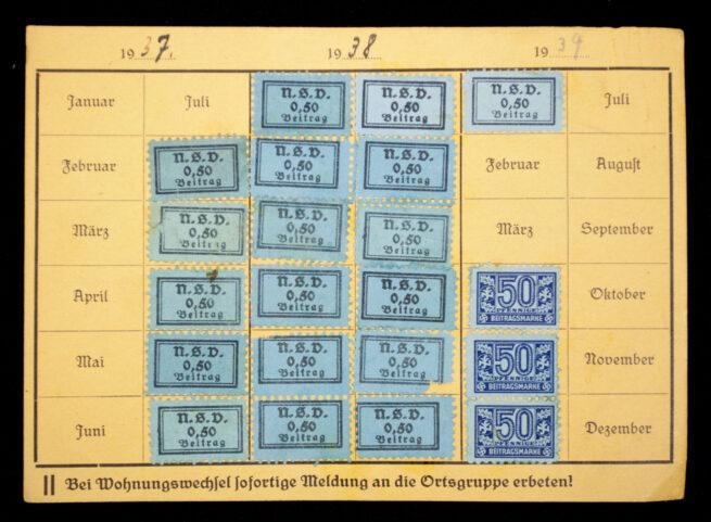 National Sozialistische Frauenschaft and Volkswohlfahrt Mitgliedskarte and papers group