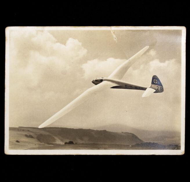 (Postcard) Der Deutsche Segelflug Reiher in der Kurve