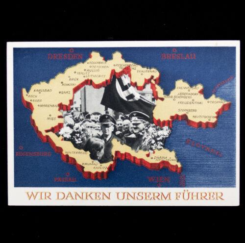 (Postcard) Sudetenland Annexaton on 1 oktober 1938