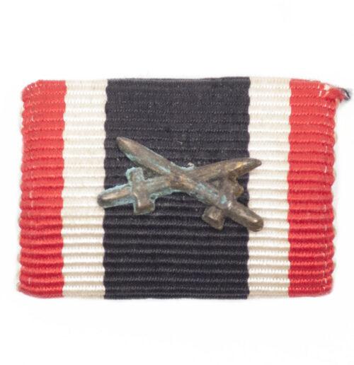 German WWII Single Ribbonbar War Merit Cross with Swords / Kriegsverdienstkreuz (KVK2)