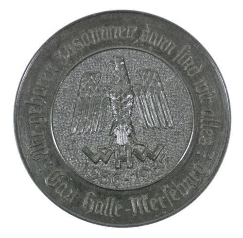WHW 1936-1937 Gau Halle Merseburg Wir gehören zusammen, dann sind Wir alles! abzeichen