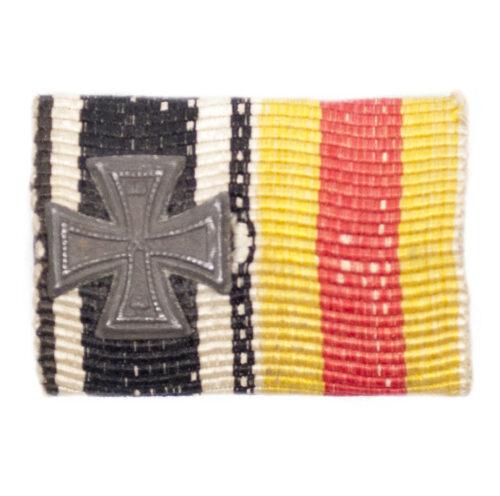 WWI German double ribbonbar With Ek2 + Baden Verdienstmedaille
