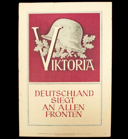 WWII German NSDAP Wochenspruch - Viktoria! (1941)