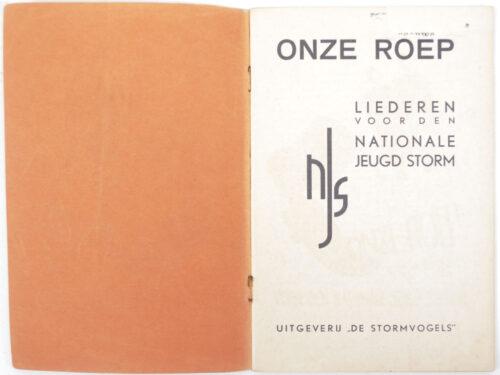 (Brochure - NSB) Jeugdstorm Onze Roep Liederen voor den nationale jeugd storm