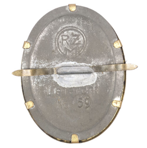 Deutsche Arbeitsfront (DAF) cap badge (RZM marked)