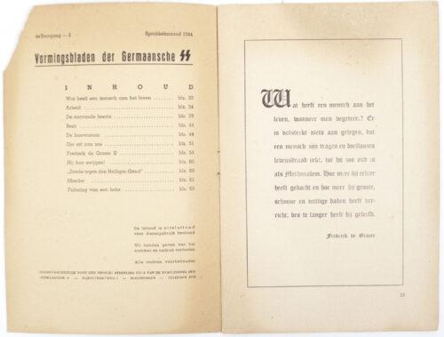 Dutch-SS – SS Vormingsbladen Jrg 4. No.2