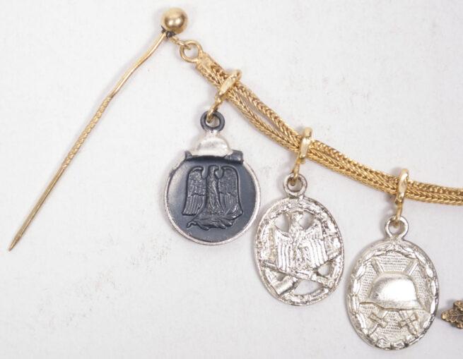 German WWII Miniature medal Frackkette