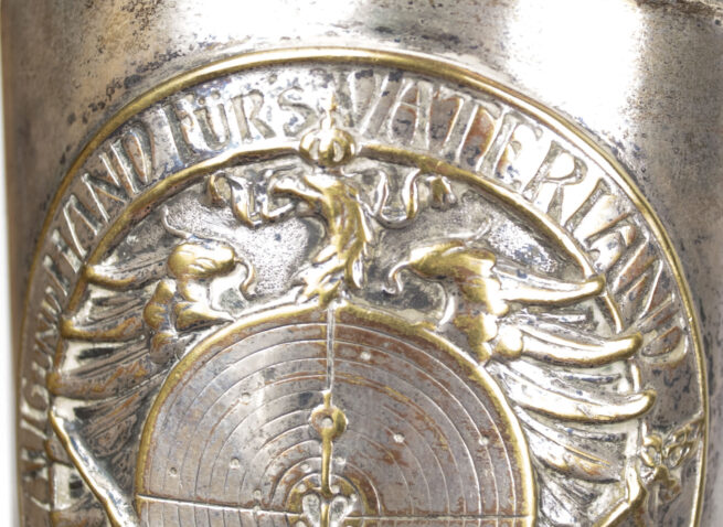 German silver shooting pokal Ur, Aug und Hand fürs Vaterland