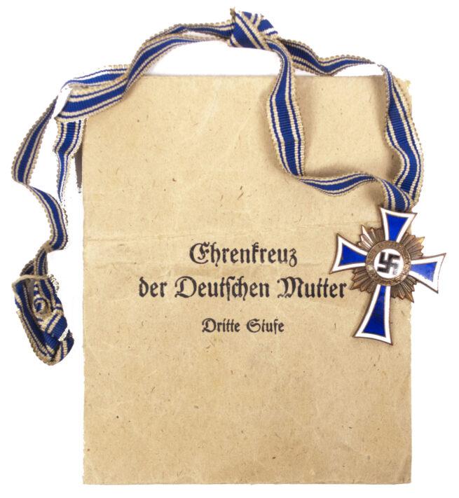 Mutterkreuz Mothersross bronze with enveloppe (maker Gottlieb & Sohne)
