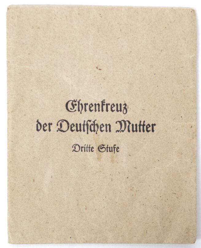 Mutterkreuz Mothersross bronze with enveloppe (maker Sohne, Heubach & Co)