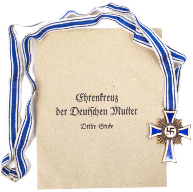 Mutterkreuz / Mothersross bronze with enveloppe (maker Lind & Wehrer)