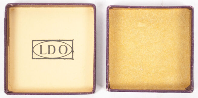Mutterkreuz miniature gold in LDO etui (maker marked L11)