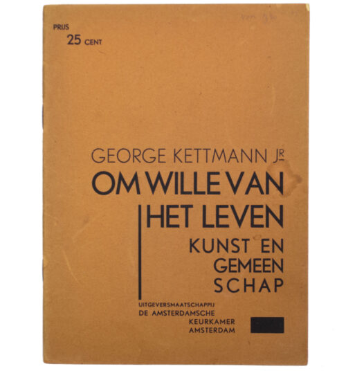 (NSB brochure) George Kettmann - Om wille van het leven, kunst en gemeenschap (1936)