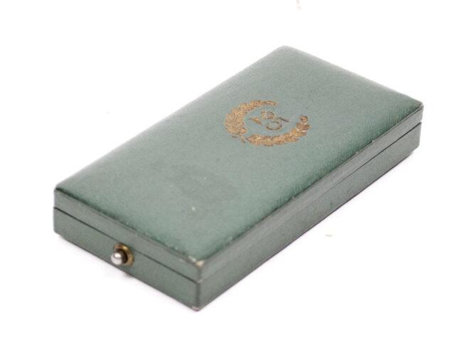 Polizei Dienstauszeichnung 5 Jahre mit Etui Police 25 Years service medal + case