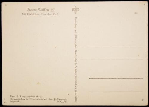 (Postcard) Unsere Waffen - SS - Mit Floßsäcken über den Fluß