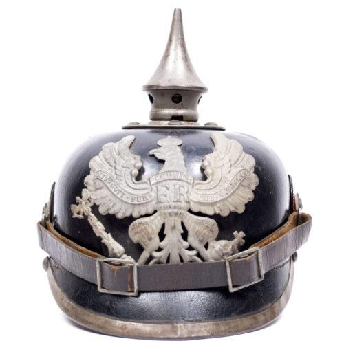 WWI PrussianSaxonian M1915 Infantry EM Pickelhaube (Spiked helmet)